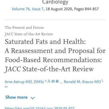 Relación entre grasas saturadas y Riesgo Cardiovascular